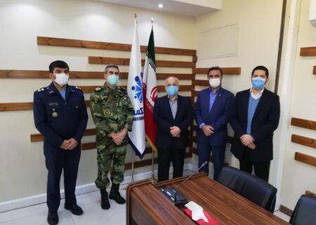 دیدار رئیس سازمان تربیت بدنی ارتش با دکترچایچی و تبریک روز بیمه به وی و همکارانش
