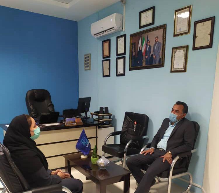 دیدار رئیس منطقه ویژه اقتصادی خراسان جنوبی از شعبه بیرجند بیمه حافظ