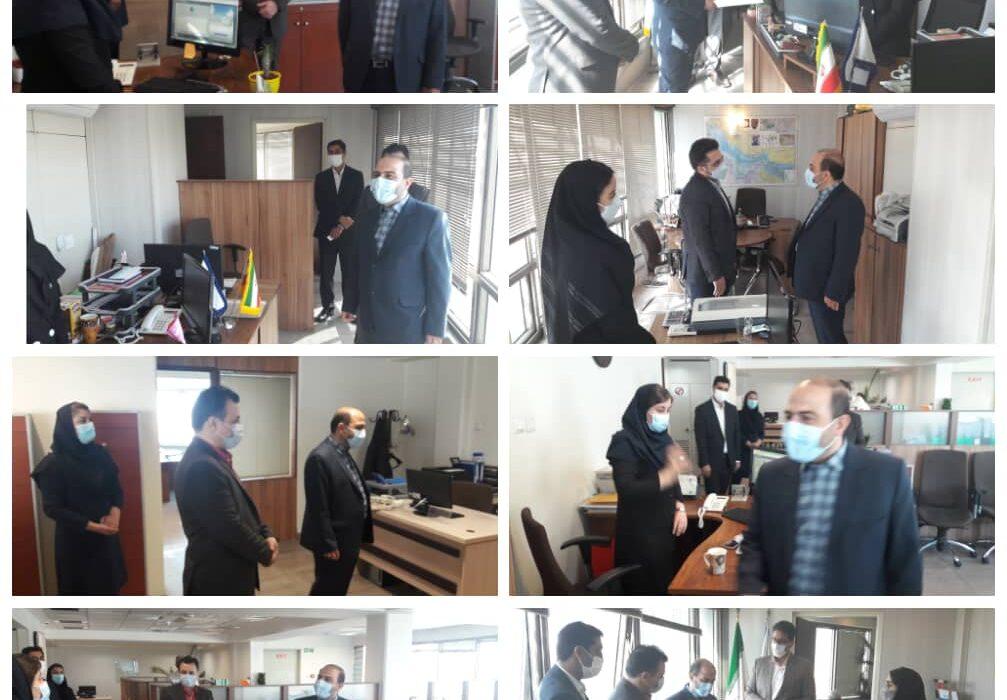 دیدار نوروزی دکتر مصطفوی با همکاران در نخستین روز کاری