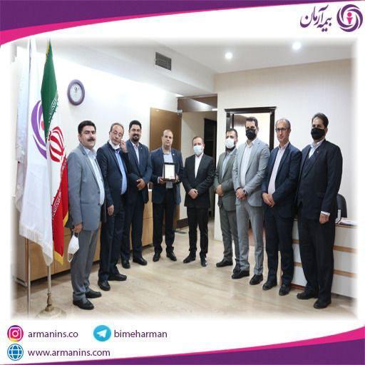 جلسه ی تقدیر از رئیس شعبه برتر بیمه آرمان قزوین