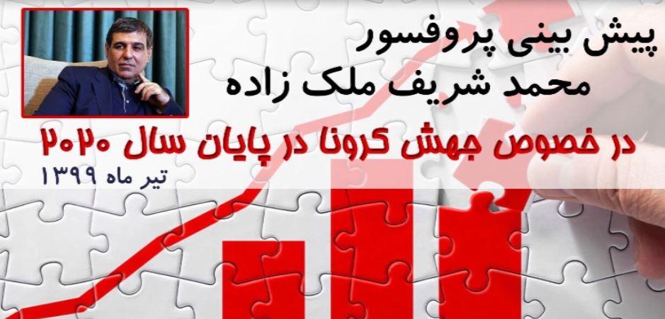 پیش بینی دانشمند ایرانی پروفسور محمد شریف ملک زاده در تیر ماه ۱۳۹۹ در خصوص جهش کرونا در پایان سال ۲۰۲۰