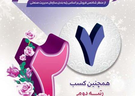 بانک رفاه کارگران هفتمین شرکت برتر ایران