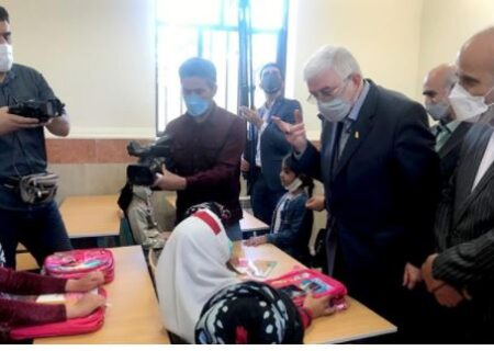 افتتاح مدرسه ۲ کلاسه در روستای شیراوند