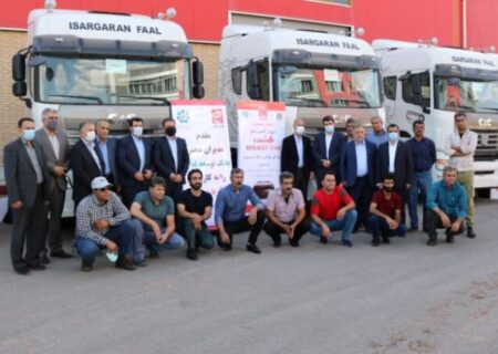 فاز نخست تحویل کشنده های شرکت آریا دیزل با مشارکت بانک توسعه تعاون استان البرز