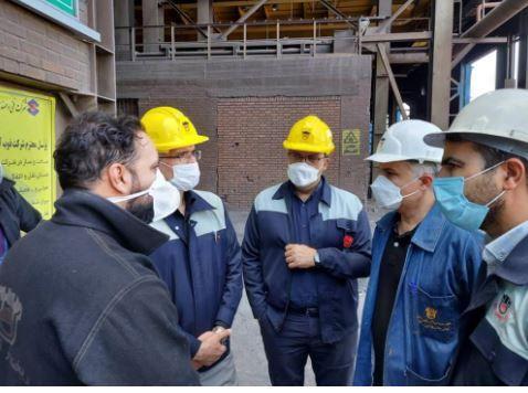 بازدید مدیرعامل شرکت از روند تولید و تعمیرات کارخانه