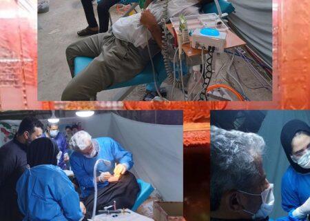 ارائه خدمات رایگان دندانپزشکی به زائران اربعین حسینی از سوی بسیج بانک ملت