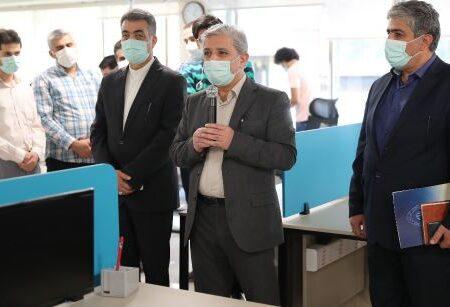 بازدید مدیرعامل بانک ملی ایران از بخشهای مختلف شرکت داده ورزی سداد
